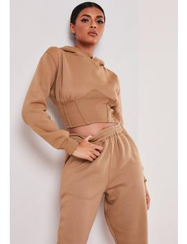 Sofia Richie X Missguided Taupe Corset Hoodie by Missguided