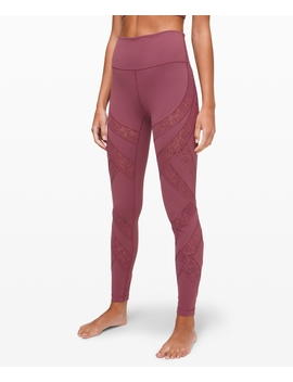 "Wunder Under High Rise Tight Flocked 28""New by Lululemon"