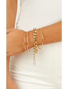 Dream Again Bracelet Set In Gold by Showpo Fashion