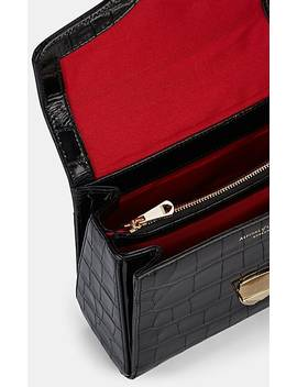Mayfair Mini Crocodile Stamped Leather Bag by Aspinal Of London