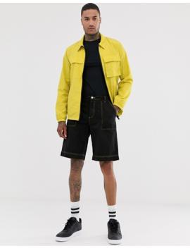 Asos Design Utility Jacket In Neon Yellow by Asos Design