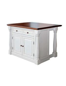 Monarch White Kitchen Island With Drop Leaf by Home Styles