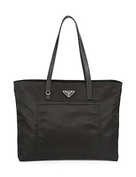Large Vela Nylon Tote by Prada