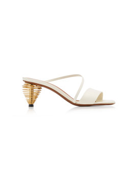 Thallis Gold Tone Leather Sandals by Neous