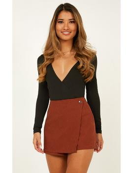 Shes The One Skort In Rust by Showpo Fashion