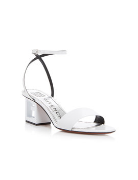 Triangle Leather Sandals by Givenchy