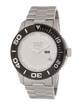 Men's 126 Xl Swiss Quartz Bracelet Watch, 45mm by Gucci