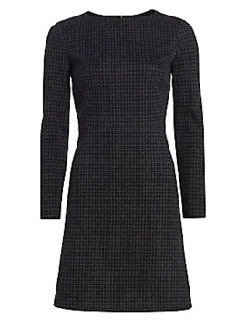 Kamillina Houndstooth Shift Dress by Theory