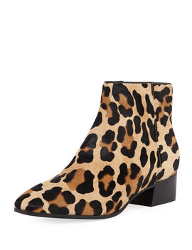Fuoco Leopard Print Booties by Aquatalia