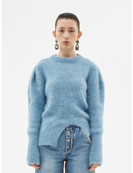 Roya Alpaca Puff Sleeve Sweater Atb384w Sky Blue by Andersson Bell For Women