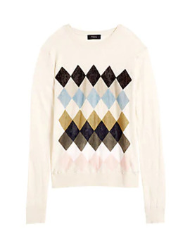 Argyle Print Sweater by Theory