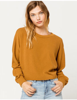 Sky And Sparrow Ribbed Dolman Camel Womens Tee by Sky And Sparrow