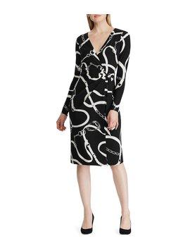 Printed Faux Wrap Jersey Dress by Lauren Ralph Lauren