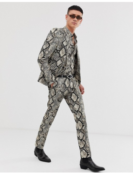 Twisted Tailor Super Skinny Suit Jacket In Snake Print by Twisted Tailor