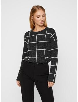 Soft Sweater With Geometric Details by Vero Moda