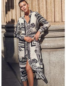 Elegant Printed Shirt Dress by Vero Moda