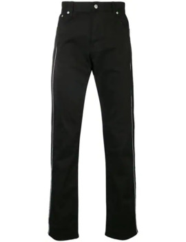 Side Stripe Embroidered Trousers by Alexander Mc Queen