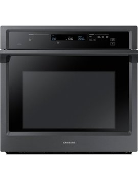 "30"" Single Wall Oven   Fingerprint Resistant Black Stainless Steel by Samsung"