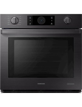 "30"" Chef Collection Single Wall Oven With Flex Duo™   Fingerprint Resistant Matte Black Stainless Steel by Samsung"