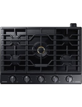 "Chef Collection 30"" Gas Cooktop   Fingerprint Resistant Matte Black Stainless Steel by Samsung"