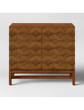 Tachuri Geometric Front 2 Door Cabinet Brown   Opalhouse by Opalhouse