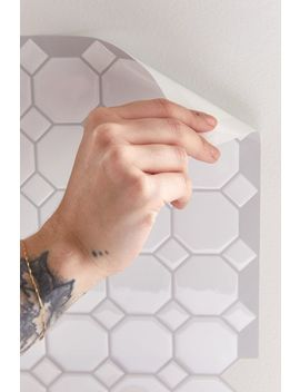 Octagon Tile Adhesive Backsplash Decal Set by Urban Outfitters