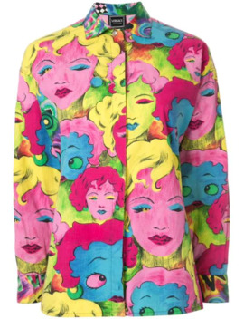 Pop Art Print Shirt by Versace Pre Owned
