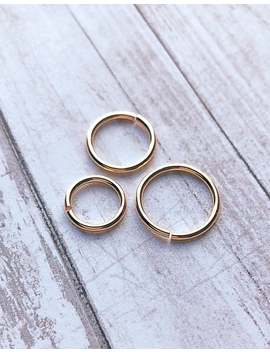 16g Hoop Ring, Earring, Septum Nose Ring, 14k Gold Filled, Belly Navel Body Jewelry 8mm 10mm 12mm by Etsy