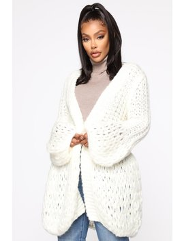 Say It Again Cardigan   Ivory by Fashion Nova