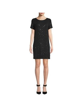 Scoop Sequin T Shirt Dress Women's by Scoop