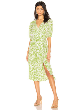 Marta Dress In Avocado Green Bella Floral by Faithfull The Brand