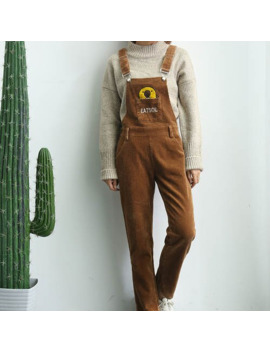 Korean New Spring And Autumn Corduroy Jumpsuit Kawaii Overalls Casual Rompers Womens Jumpsuit Woman Overalls by Ali Express