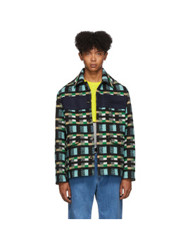 Blue & Green Outdoor Jacket by Kenzo