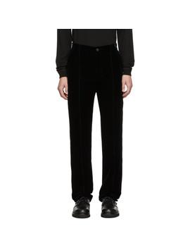 Navy Velvet Trousers by Giorgio Armani