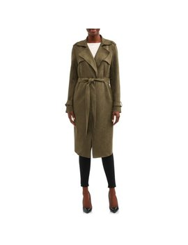 Women's Faux Suede Trench Coat by Heart N Crush