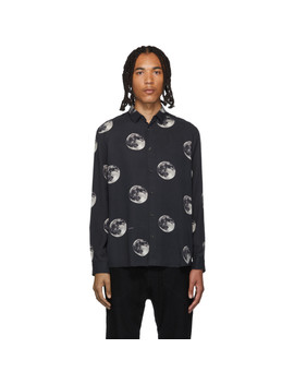 Black 'the Moonwalker' Shirt by Robert Geller