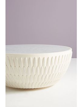 Feather Collection Drum Coffee Table by Bethan Gray For Anthropologie