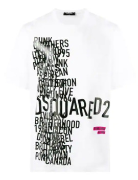 Word Print T Shirt by Dsquared2