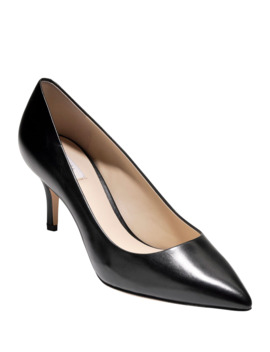 Vesta Grand Leather Point Toe Pumps, Black by Cole Haan