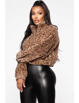 Feeling Frisky Faux Fur Jacket   Brown by Fashion Nova