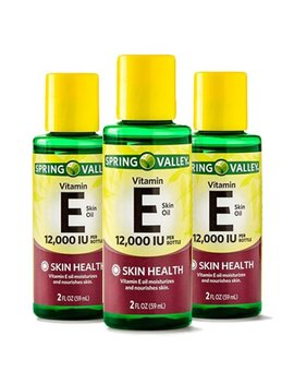 (3 Pack) Spring Valley Vitamin E Skin Health Moisturizer, 12000 Iu, 2 Oz by Body Lotions & Creams