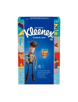 Kleenex Toy Story 4 Trusted Care Facial Tissue   4pk/144ct by 4pk/144ct
