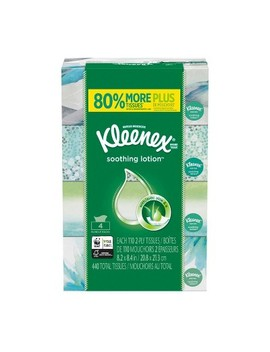 Kleenex Soothing Lotion Facial Tissue   440ct by 440ct