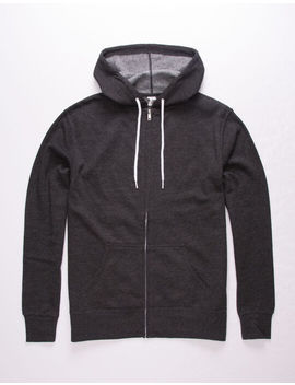 Independent Trading Company Charcoal Mens Zip Hoodie by Independent Trading Company