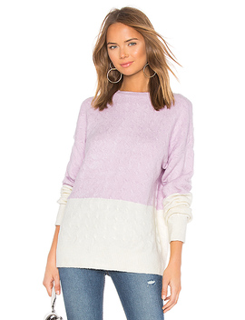 Tina Sweater In Lilac & Ivory by Lovers + Friends