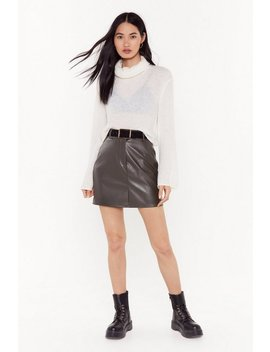 No Matter What The Faux Leather Mini Skirt by Nasty Gal
