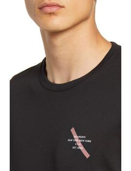 Gotham Slash Logo T Shirt by Saturdays Nyc