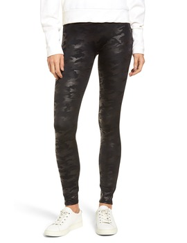 Camo Faux Leather Leggings by Spanx®