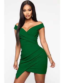 Let's Go Out Mini Dress   Kelly Green by Fashion Nova