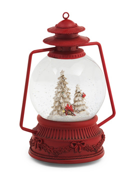 Led Cardinals Tree Musical Snow Globe Lantern by Tj Maxx